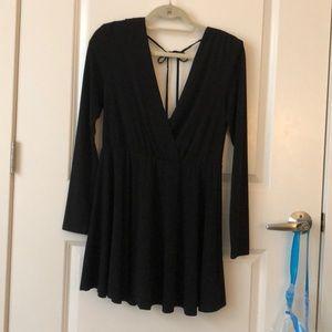 NWT bcbgeneration black long sleeve mini dress